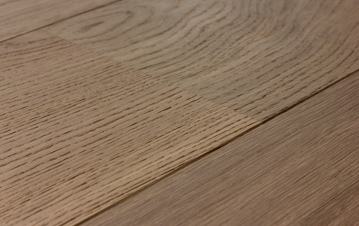 Wood flooring with brushed treatment