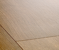 Laminate flooring with impression bevels