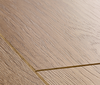Laminate flooring with large bevels