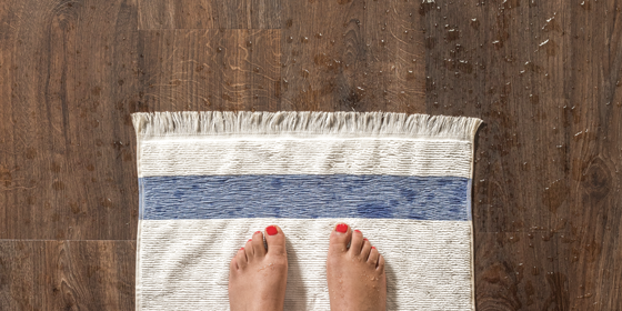 Water-resistant vinyl floors