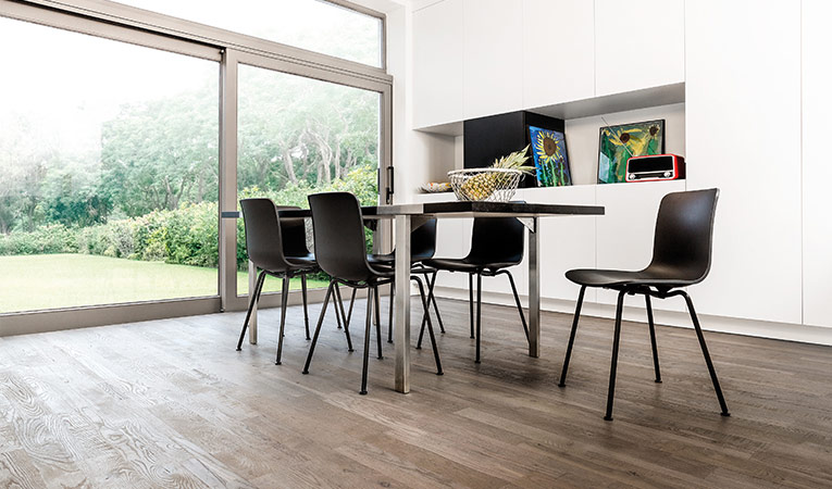 Quick-Step Hardwood Variano, Royal grey oak oiled, multi-strip, dining room