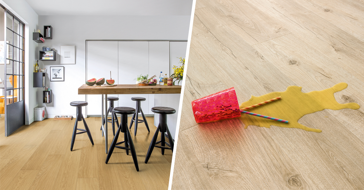 Water resistant laminate no problem beautiful laminate for Quick step flooring ireland