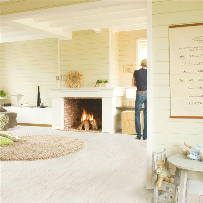 U1235 White Brushed Pine Official, White Brushed Pine Laminate Flooring
