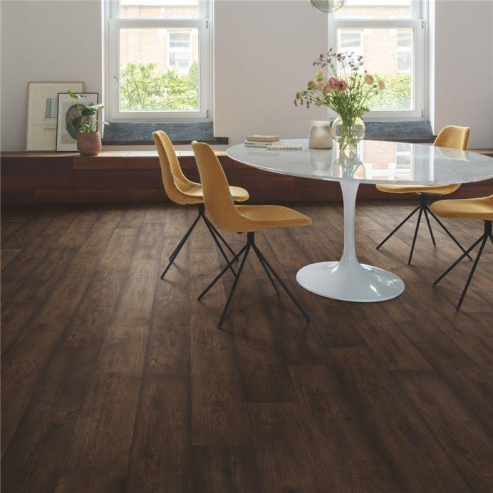Sig4756 Waxed Oak Brown Official, Dark Brown Laminate Flooring